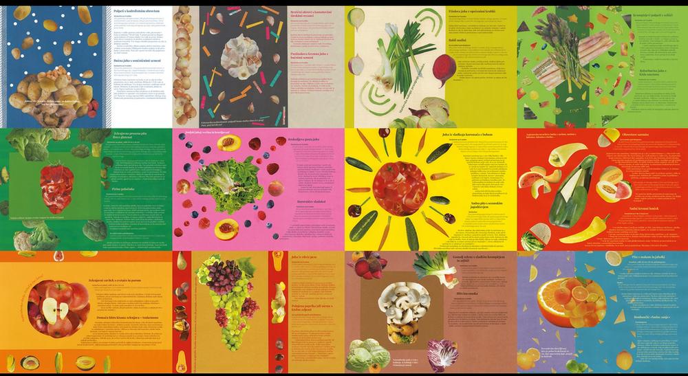 Posamezni meseci s sezonskimi recepti  Zrelostnega koledarja 2012.