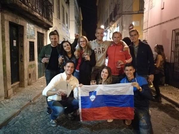 Navijači v Lizboni