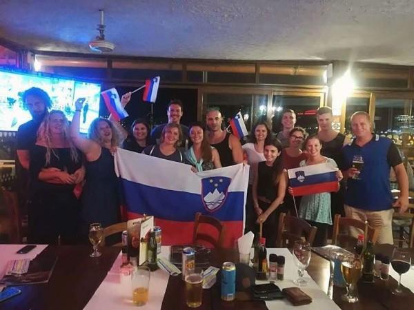 Slovenski navijači na Malti